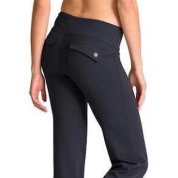 501a1f002fe73 Athleta Pants | Black Fusion Flap Pocket Yoga | Poshmark